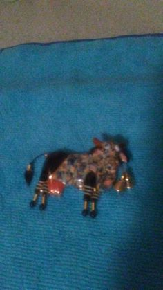 Hand made Jewerly 10 brand Cow head bobes fired porlein multi color marked back