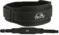"Weight Lifting Belt Gym Training Back Support Neoprene Lumber Pain Fitness (Black, Medium 31"" - 37"")"