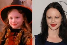 Awesome then and now photos from movies:  from Hocus Pocus: Dani/Thora Birtch