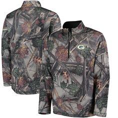 NFL Green Bay Packers Majestic The Woods Half Zip Jacket - Camo
