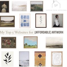 Looking for affordable but still incredible artwork? Check out these 5 websites for some of Sophia Fain Interiors favorites pieces of art!