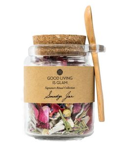 Energy Clearing Sage Smudge Jar with Frankincense