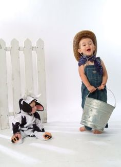 "@Cristy Hornsby here is another idea-he could be farmer and she could be ""Cow-lie"" Ha ha ha ha."