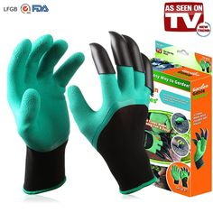 Amazon.com: MARBLE Garden Genie Gloves with Claws on Right Hands for Digging and Planting As Seen On TV (Right Hand Claw): Home & Kitchen