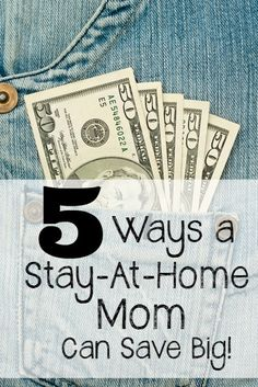 Are you a stay-at-home mom? Do you want to find ways to save money so that you can continue to stay at home with your children? Read 5 Ways a Stay-At-Home Mom Can Save Big!