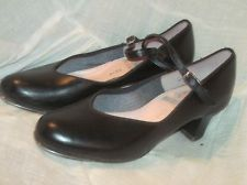 Vintage 1960's Black Leather Mary Jane Style Tap Shoes by Capezio Size 7.5/ so wanted these for dance class back in the day!