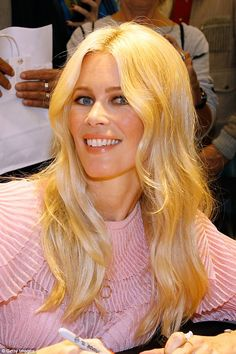 Mane attraction:Harking back to the swinging Sixties, the supermodel wore her blonde hair in voluminous waves