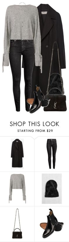 """""""Untitled #9854"""" by nikka-phillips ❤ liked on Polyvore featuring Zara, H&M, Helmut Lang, Yves Saint Laurent and Wallis"""