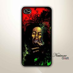 iphone 4 case bob marley smoking art painting by NeutroneCraft, $14.00