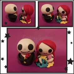 Nightmare Before Christmas Dolls : Jack x Sally by ~FantasySystem on deviantART