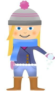 Free winter kids clip art! -- the download is not working for me today 12/14 but I want to check back b/c it looks cute