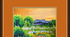 This time its a quilled painting of a nature landscape of a winding path through a field of flowers. You can see the distant trees and hil...