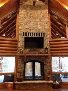 wood burning indoor outdoor fireplace | The New Echo Estates ...