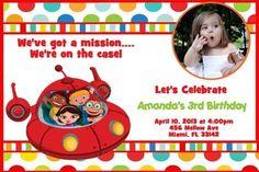 Little Einsteins Birthday Invitation Cardstock w/ envelopes Printed