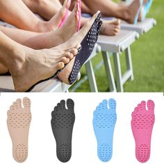 2 pairs Summer Sticker Shoes Stick Soles Sticky Pads Feet Beach Foot Protection in Clothing, Shoes & Accessories, Women's Shoes, Slippers Beach Feet, Beach Walk, Sticky Pads, Soft Feet, Foot Pads, Ciabatta, Looks Cool, Walk On, Fashion 2017