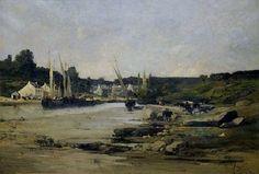 Alexandre Defaux 1826-1900 Pont-Aven hst 70x50