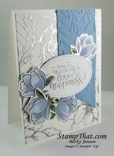 Good Morning Magnolia Wedding Card Wedding Cards Handmade, Greeting Cards Handmade, Simple Wedding Cards, Stampin Up, Wedding Shower Cards, 3d Christmas, Magnolia Stamps, Engagement Cards, Wedding Anniversary Cards
