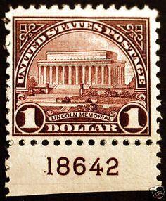 #571 $1 Violet Brown 1923 VF Plate #18642 *MNH* Fresh - Giant Rare Stamp Sale - http://stores.ebay.com/Little-Art-Treasures