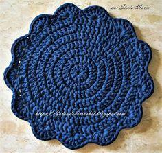 Crochet Placemats, Crochet Doilies, Chrochet, Knit Crochet, Chandelier Wedding Decor, Doily Rug, Crochet T Shirts, Crochet Kitchen, T Shirt Yarn