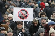 protest against Putin, showing the most angry picture of him to show that he is brutal.