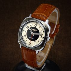 Raketa Stunning Racing Dashboard Style Early Quartz Watch From 70s - soviet square drivers sport watch poljot slava wostok tissot omega by BestVintage4You on Etsy