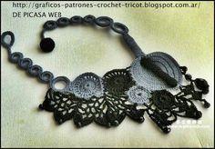 TEJIDOS A CROCHET - GANCHILLO - PATRONES: LINDAS IDEAS A CROCHET , COLLARES MUY ELEGANTES