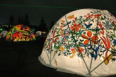 painted dome tent
