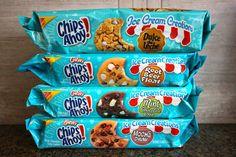 New Cookies That Taste Like Ice Cream? We'll Take Two Scoops! Chips Ahoy Cookies, Beer Cookies, Chewy Sugar Cookie Recipe, Sleepover Food, Junk Food Snacks, Cute Desserts, Weird Food, Food Goals, Food Cravings