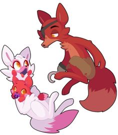 Milly Mangle and Foxy's baby girl (Vi is gonna be a big sis)