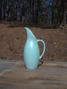 SOLD! Royal Haeger pitcher or flower vase in aqua teal blue.