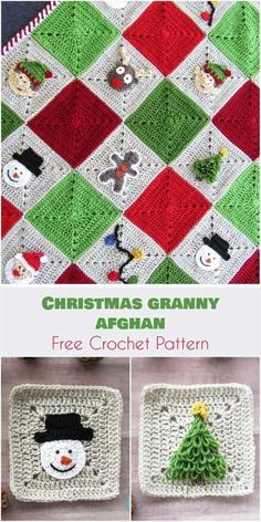 Transcendent Crochet a Solid Granny Square Ideas. Inconceivable Crochet a Solid Granny Square Ideas. Crochet Christmas Decorations, Crochet Christmas Trees, Christmas Crochet Patterns, Noel Christmas, Christmas Colors, Crochet Ornaments, Crochet Snowflakes, Granny Square Crochet Pattern, Afghan Crochet Patterns