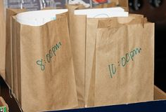 New Years Eve bags!  Love this idea and WILL be doing this for next year!  Can't wait!