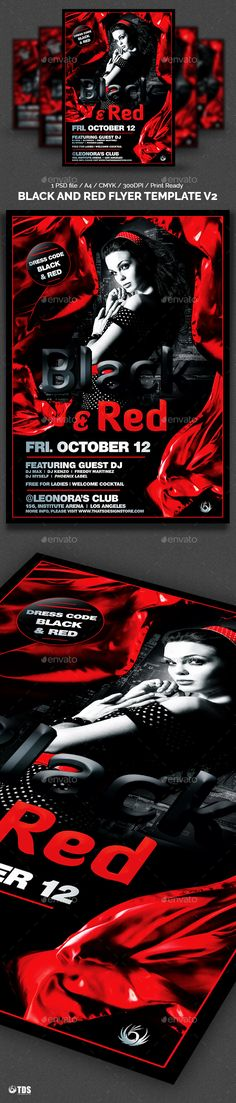 Flyer Girl Red Party  FontsLogosIcons    Red Party