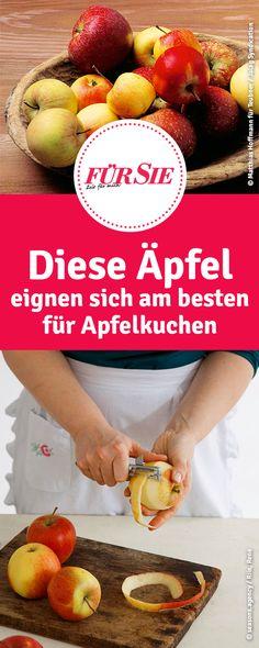 Küchenwissen, Backtricks und Tipps: Diese Äpfel eignen sich am besten für Apfelkuchen Apple Cakes, Cupcakes, Cake Pops, Fried Apples, Food, Apple Recipes, Apple Pie Cake, Cup Cakes, Cupcake