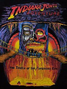 Indiana Jones Adventure T shirt The Temple of the Forbidden Eye Disney #HRLA #GraphicTee