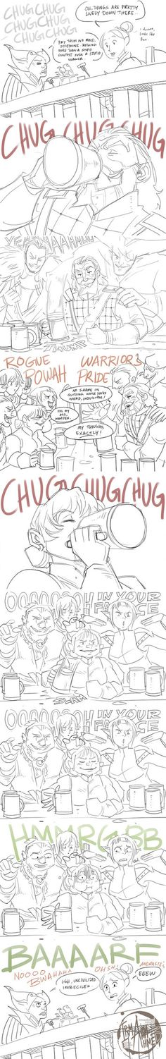 DA:I - Drinking Contest by aimo on deviantART - My Inquisi-butt would definitely do this. lol