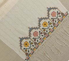 Vintage Pure Silk Hand Embroidered Table Runner,Ottoman Traditional Replica,Delicate Table Cloth,Turkish Embroidery Handmade,Bridal Dowry by TheSilknCotton on Etsy