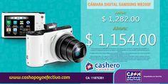 Obtén las mejores fotos y compártelas en tus redes sociales sin necesidad de usar cables. http://www.cashapoyoefectivo.com/camaras/camara-digital-samsung-wb200f-a62jcnhb000mfe.html…