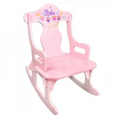 Personalized Pink Puzzler Rocker (Many Designs Available) - http://www.247babygifts.net/personalized-pink-puzzler-rocker-many-designs-available/