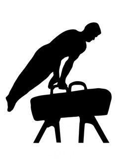 Male Gymnast Gymnastics Silhouette Die Cut Files