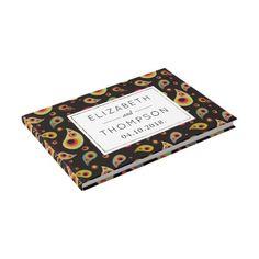 #Wedding - Persian Paisley Dots - Green Pink Black Guest Book - #WeddingGuestBook #Wedding #Guest #Books #Guestbook Wedding Guest Books