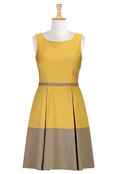 #eShakti Retro style colorblock dress | i love this website!