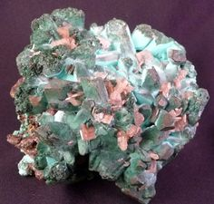 Malachite & Rosasite with Cerrusite, Namibia