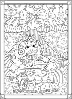Creative Haven Playful Puppies Coloring Book @ Dover Publications Puppy Coloring Pages, Free Adult Coloring Pages, Coloring Book Pages, Printable Coloring Pages, Coloring Sheets, Abstract Coloring Pages, Flower Coloring Pages, Mandala Coloring Pages, Christmas Coloring Pages