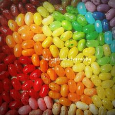 Rainbow Of Jelly Beans  Sweety Red Orange by mingtaphotography, $30.00