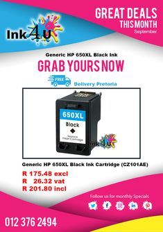 Great Specials Running at This September, Click The Link To Visit Our Website. Printer Ink Cartridges, Hp Printer, Inkjet Printer, Black Ink Cartridge, September, Running, Website, Link, Keep Running