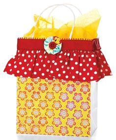 Flowers & Ruffles Gift Bag by @Kimberly Kesti