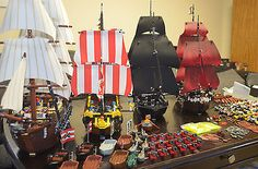 Build your own LEGO Armada with this lot of 4 kits including the Imperial Flagship, Pirates of Caribbean Black Pearl, Pirates of Caribbean Queen Anne's Revenge and Black Seas Barracuda. Get ready to sail on to adventure!