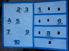 TEACCH activity for putting 1-10 in order