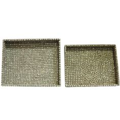 Captivating 2 Piece Rectangle Trays - Albalone Shell. Check This Unique Set Of Trays Which Will In No Time Help You Serve In Style To Guests And Others Paying You A Visit. Similar In Looks And Different In Size, These Rectangular Trays Will Be A Unique Inclusion In Your Dining And Kitchen Area. Made From Good Quality Polyresin It Will Stay In Good Condition For Many Years Together. These Trays Have A Moss Green Hue And Shiny Finish. You Can Use These Trays To Serve Or To Deck Up Any Side Tbale And...